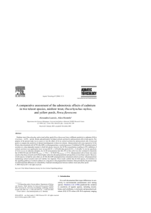 A comparative assessment of the adrenotoxic effects of cadmium Oncorhynchus mykiss