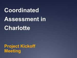 Coordinated Assessment in Charlotte