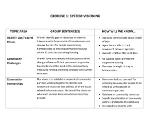 EXERCISE 1: SYSTEM VISIONING TOPIC AREA GROUP SENTENCE(S) HOW WILL WE KNOW…