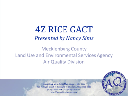 4Z RICE GACT Presented by Nancy Sims Mecklenburg County
