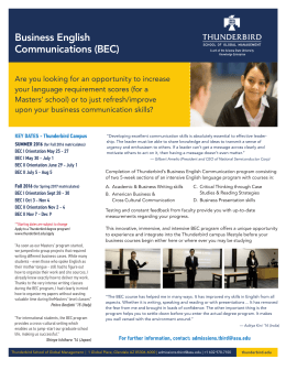 Business English Communications (BEC)