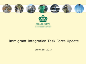 Immigrant Integration Task Force Update June 26, 2014