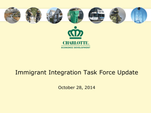 Immigrant Integration Task Force Update October 28, 2014