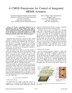 A CMOS Potentiostat for Control of Integrated MEMS Actuators