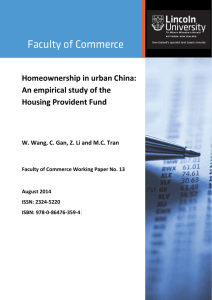 Homeownership in urban China: An empirical study of the Housing Provident Fund