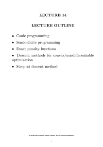 LECTURE 14 LECTURE OUTLINE optimization •