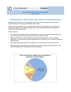 Achieving Student Learning Outcomes March 2013
