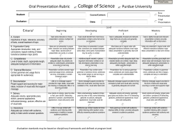 rubric for oral presentation college Powerpoint grading rubric presentation reflects lots of practice, and segues from one slide to the next community college, but.