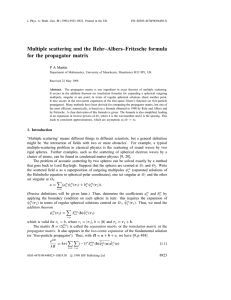 Multiple scattering and the Rehr–Albers–Fritzsche formula for the propagator matrix