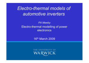 Electro-thermal models of automotive inverters Electro-thermal modelling of power electronics