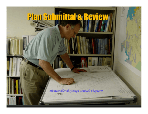Plan Submittal & Review Huntersville WQ Design Manual, Chapter 9