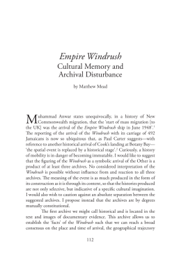 M Empire Windrush Cultural Memory and Archival Disturbance