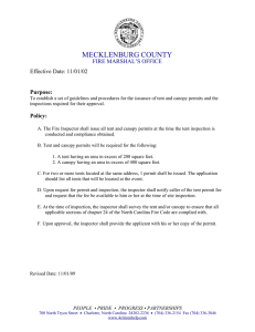 MECKLENBURG COUNTY  FIRE MARSHAL'S OFFICE Effective Date: 11/01/02