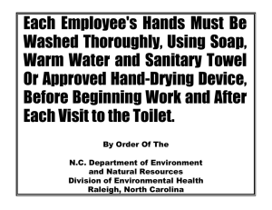Each Employee's Hands Must Be Washed Thoroughly, Using Soap,