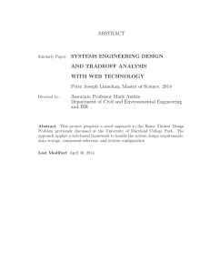 ABSTRACT SYSTEMS ENGINEERING DESIGN AND TRADEOFF ANALYSIS WITH WEB TECHNOLOGY
