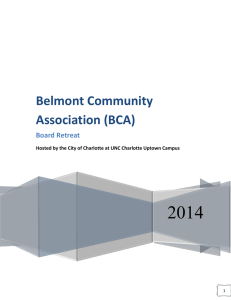 2014 Belmont Community Association (BCA) Board Retreat