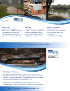 Project Status: Next Steps: For more information: Charlotte-Mecklenburg Storm