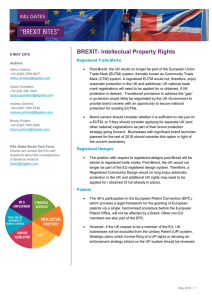 BREXIT- Intellectual Property Rights Registered Trade Marks