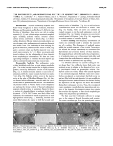 THE DISTRIBUTION AND DEPOSITIONAL HISTORY OF SEDIMENTARY DEPOSITS IN ARABIA TERRA.