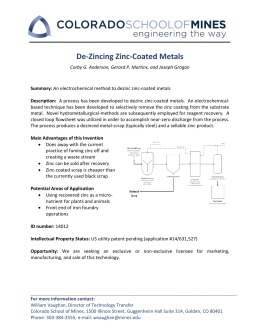 De-Zincing Zinc-Coated Metals