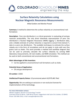 Surface Relaxivity Calculations using Nuclear Magnetic Resonance Measurements