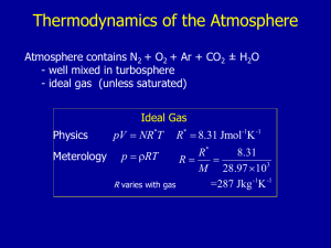 Thermodynamics of the Atmosphere 