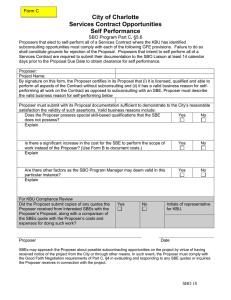 City of Charlotte Services Contract Opportunities Self Performance Form C