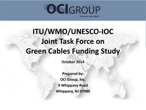 ITU/WMO/UNESCO-IOC Joint Task Force on Green Cables Funding Study October 2014
