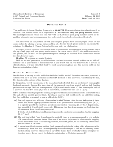 Massachusetts Institute of Technology Handout 3 6.857:  Network and Computer Security