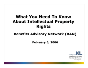 What You Need To Know About Intellectual Property Rights Benefits Advisory Network (BAN)