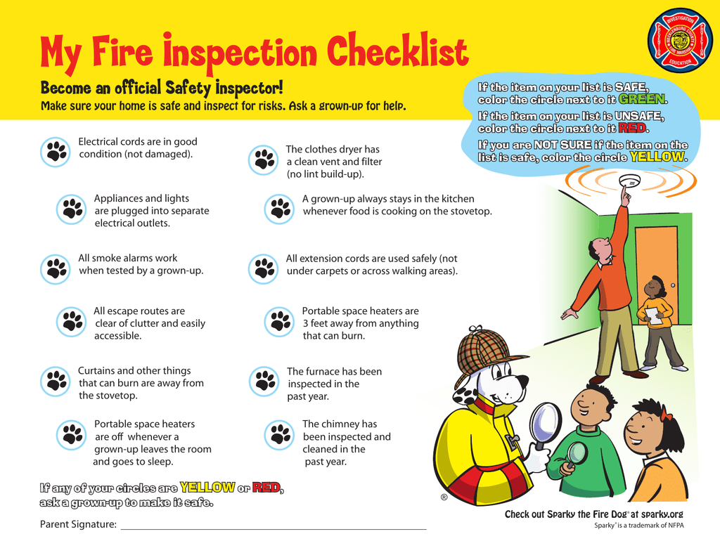 My Fire Inspection Checklist Become an official Safety