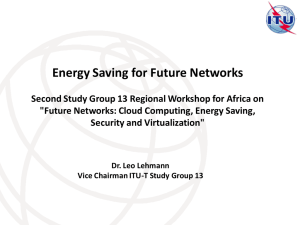 Energy Saving for Future Networks