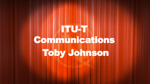 ITU-T Communications Toby Johnson