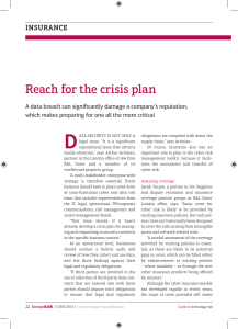 Reach for the crisis plan insurance