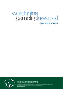 worldonline lawreport gambling cecile park publishing