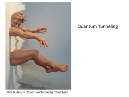 "Quantum Tunneling Clay Sculpture ""Quantum Tunneling"" Paul Egan"