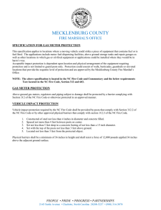 MECKLENBURG COUNTY  FIRE MARSHAL'S OFFICE SPECIFICATION FOR GAS METER PROTECTION