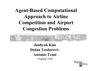Agent-Based Computational Approach to Airline Competition and Airport Congestion Problems