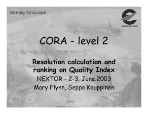 CORA - level 2 Resolution calculation and ranking on Quality Index