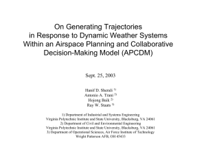 On Generating Trajectories in Response to Dynamic Weather Systems