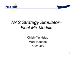 NAS Strategy Simulator – Fleet Mix Module