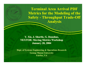 Terminal Area Arrival PDF Metrics for the Modeling of the Analysis