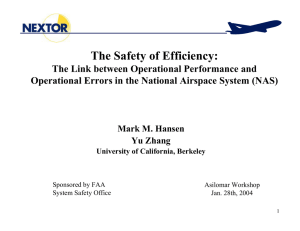 The Safety of Efficiency: The Link between Operational Performance and