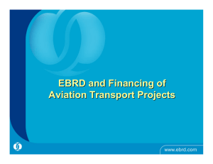 EBRD and Financing of Aviation Transport Projects
