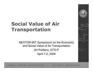 Social Value of Air Transportation
