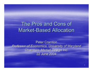 The Pros and Cons of Market - Based Allocation