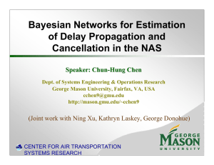 Bayesian Networks for Estimation of Delay Propagation and Cancellation in the NAS