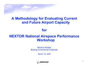 A Methodology for Evaluating Current and Future Airport Capacity for
