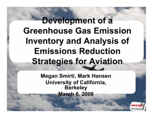 Development of a Greenhouse Gas Emission Inventory and Analysis of Emissions Reduction