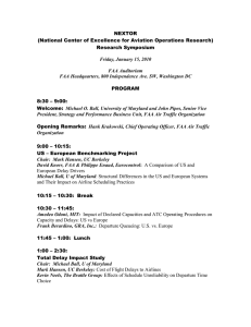 NEXTOR (National Center of Excellence for Aviation Operations Research) Research Symposium PROGRAM